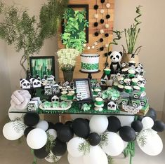 Panda Themed Party, Panda Party, Themed Parties, Panda Birthday Cake, 1st Boy Birthday, Cute Panda Baby, Christening Themes, Panda Baby Showers, Panda Decorations