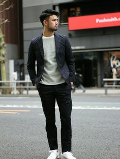 EDIFICE TOKYO 渋谷店|EDIFICE TOKYO店スタッフ6さんのテーラードジャケット「◇GIZA COTTON STRECH ジャケット(EDIFICE|エディフィス)」を使ったコーディネート
