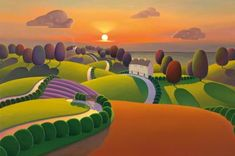 Evenings Golden Veil a limited edition print by Paul Corfield