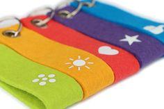 Filz #Schlüsselanhänger - Schlüssel farblich markieren #Dankeschön #Geschenk