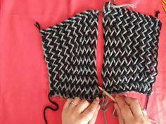 YouTube Poncho, Crochet Top, Weaving, Textiles, Tote Bag, Knitting, Youtube, Women, Google