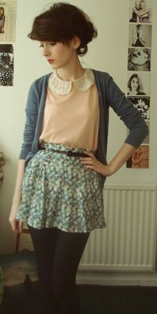 Love the outfit.  skirt just needs to be like 5 or 6 inches longer