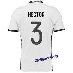 Jonas Hector 3 UEFA Euro 2016 Germany Home Jersey
