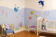Under the sea nursery room Baby Boy Room Decor, Baby Nursery Themes, Baby Room Design, Baby Boy Rooms, Baby Bedroom, Nursery Design, Baby Boy Nurseries, Kids Bedroom, Themed Nursery