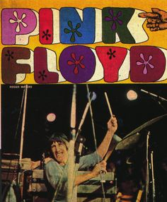 Vintage Pink Floyd concert poster. - Hippie, classic rock.