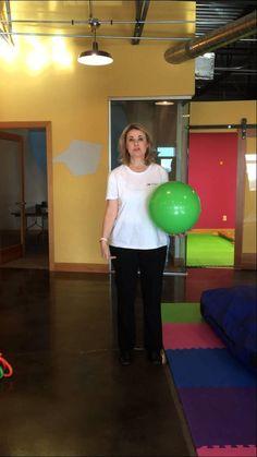 Dribbling activity to help children with balance, coordination, reflexes, and vestibular. #adhd #spd #autism #sensory #education