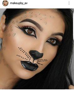 Cat Halloween Makeup, Halloween Costumes, Face Paint Makeup, Day Of The Dead, Costumes, Cat Makeup For Halloween, Halloween Costumes Uk, Halloween Outfits