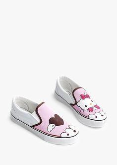 Cute Pink Hellow Kitty Slip-on Sneakers Cute Sneakers, Slip On Sneakers,  Hipster 1dfd9e34ef