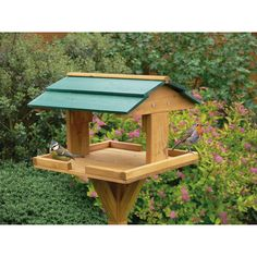 bird feeder with roof - Google Search