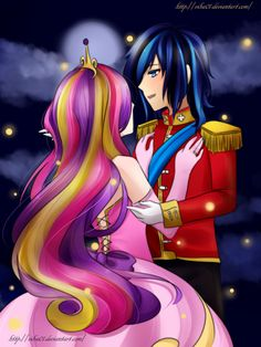 Princess Mi Amore Cadenza (Cadance) And Her Husband, Shining Armor. (I Love You!)
