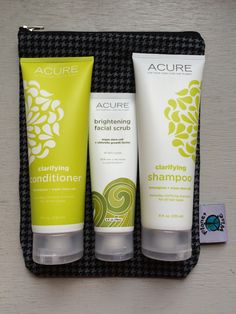 Prize includes lemongrass shampoo and conditioner, brightening facial serum plus a houndstooth wetbag!