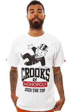 The Over the Top Tee in White by Crooks and Castles