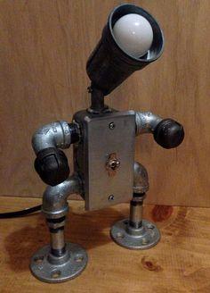 Robot Lamp tiny flip switch by JosephBarral on Etsy