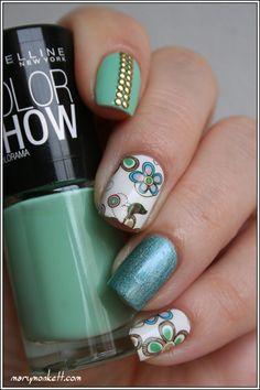 Skitlette à la menthe - Mary Monkett #nail #nails #nailart