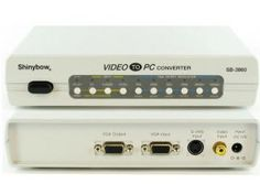 This to video converter converts any Composite Video, S-Video or VGA Video source signal and outputs it to VGA video. This video conversion device inputs a standard NTSC, PAL or SECAM signal from the source and easily converts it to one of the VGA video format for display. - $147.00