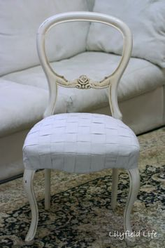 Lilyfield Life: DIY Woven Upholstery Tutorial on a French Chair
