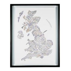 Hand-lettered map of literary Britain. This poster features 183 authors in an original geographically-linked design. Designed by Geoff Sawers. Printed on 200gsm recycled paper. A1 size 84 x 55cm. £15.00