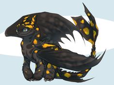 poisonous nightmare by llEeckranistll on DeviantArt Forest Creatures, Mythical Creatures Art, Fantasy Creatures, Httyd Dragons, Cute Dragons, Dragon Images, Dragon Pictures, Night Fury Dragon, Monster Prom