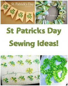 St Patricks Day Sewing Ideas