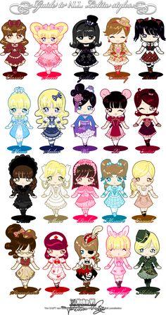 Guide to All Lolita Styles by Neko-Vi on deviantART