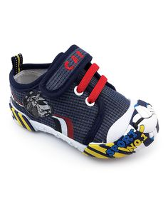 Take a look at this Navy & Red Ruby Sneaker today!