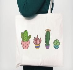 The bags measure 42 x the handles are from the top of the bag to the top of the handle. Please allow up to 3 The post Cactus Tote Bag 2019 appeared first on Bag Diy. Painted Bags, Reusable Bags, Cotton Bag, Cloth Bags, Fabric Painting, Canvas Tote Bags, Screen Printing, Textiles, Etsy