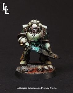 LilLegend Commission Painting Studio: Death Guard Commission Reaper Veteran Squad