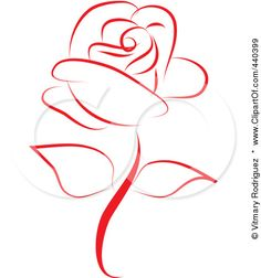 Clipart Rose Collection Png - Free Icons and PNG Backgrounds Rose Embroidery, Embroidery Patterns, Art And Illustration, Beautiful Red Roses, Red Art, Drawing Lessons, Rose Tattoos, Clipart, Doodle Art