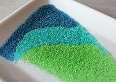 DIY Colored Sanding Sugar