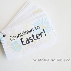 Countdown to Easter Activity Cards// helping kiddos to remember the true meaning… Easter Countdown, Countdown Ideas, School Fun, Sunday School, School Ideas, Kids Church, Church Ideas, Easter Printables, Free Printables