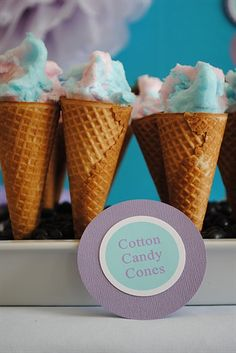 Cotton Candy Cones #kids #birthday #party #treat