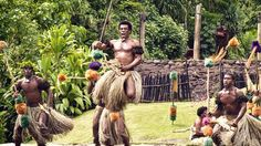 """Traditional Fijian Dance  This is a traditional Fijian """"meke"""" dance, performed at the Arts Village in Pacific Harbour on the main island of Viti Levu"""