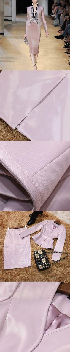 Runway 2017 Spring Ol Career Two Piece Set Suit Women Elegant Pink Slim Short Jacket And Skirt Suits High Quality Women Clothing