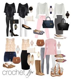 """Crochet Mix"" by fashionstudiolondon on Polyvore featuring Alexander McQueen, Armani Jeans, Frame, 7 For All Mankind, Chicwish, VILA, WearAll, AG Adriano Goldschmied, Yves Saint Laurent and Warehouse"