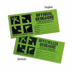 """Groundspeak Small Cache Sticker $1.25 USD This 1.75"""" x 4"""" Small Cache Label works well on film canister sized containers or larger. It includes lines for Cache Name, Contact Name and Contact Info to help clearly label your cache container. The material is durable 1ml vinyl with a permanent adhesive. Available in English or German language versions. Size: 4""""(10cm) x 1.75""""(4.5cm)"""