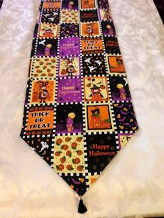Halloween Themed Handmade Table Runner 72x14 Reversible & Halloween Runner, Handmade Table, Handmade Gifts, Halloween Themes, Table Runners, I Shop, Trending Outfits, Unique Jewelry, Shopping