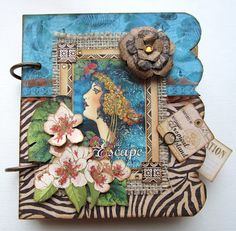 Want to make this colorful Graphic 45 mini album? Sign up for my class on April 21st in Issaquah, WA. Check it out!