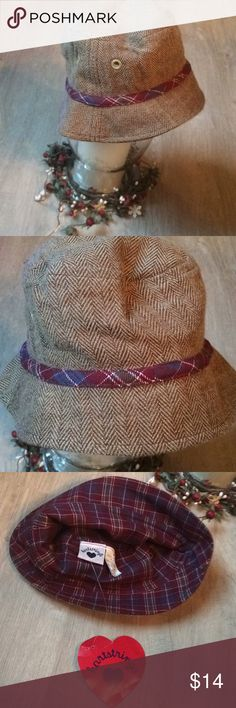 Heartstrings kids bucket hat NWT Plaid flannel lined Hartstrings Accessories Hats