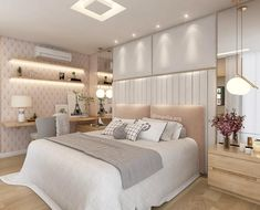 Lit up bedrooms Bedroom Furniture Design, Home Decor Bedroom, Small Space Interior Design, Bedroom Makeover, Home Bedroom, Luxurious Bedrooms, Modern Bedroom, Girl Bedroom Decor, Dream Rooms