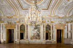 First floor gallery in Palazzo Papadopoli Palazzo, Beautiful Wallpaper Photo, Classical Interior Design, Architectural Antiques, Source Of Inspiration, Michelangelo, 16th Century, Furniture Sets, The Help