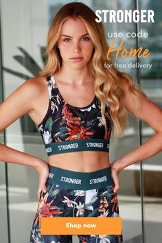 From the desolate wasteland of Joshua Tree we now bring you the hottest trend in sports fashion. A fusion of cracked Californian desert mixed with vibrant florals of the jungle. Taste our new Jungle Fusion - bon apetit! Group Fitness, Yoga Fitness, Fitness Tips, Wellness Fitness, Yoga Leggings, Workout Leggings, Yoga Pants, Yoga Qoutes, Yoga Workouts