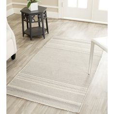 Safavieh Hand-woven Kilim Grey/ Ivory Wool Rug (3' x 5') | Overstock™ Shopping - Great Deals on Safavieh 3x5 - 4x6 Rugs