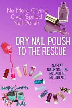 Experience the fun Dry Nail Polish, Nail Polish Strips, Girlie Style, Color Street, Happy Campers, Top Coat, Simple Nails, How To Remove, How To Make