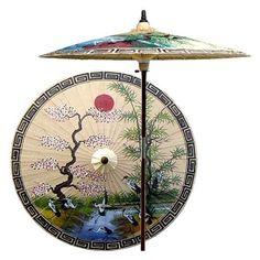 Asian Spring Patio Umbrella in Sand (None) [ID 402763] #OrientalUnlimted #OrientalJapanese