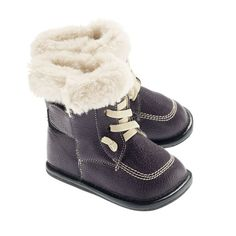 Lace-up Faux Fur Boot - Purple (Baby & Toddler) by Jack & Lilly on Faux Fur Boots, Lace Up Boots, Purple Baby, Stylish Boots, Purple Fashion, Niece And Nephew, Toddler Shoes, Leather Booties, Shoes Outlet