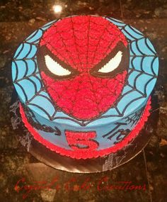 Buttercream spiderman cake