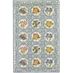 I pinned this Savoy Collection Floral Panel Rug in Light Blue from the Marcella Fine Rugs event at Joss and Main!