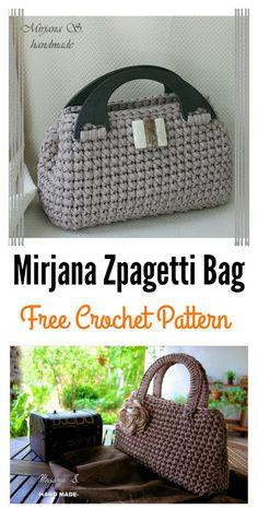 Free T-Shirt Yarn Crochet Bag Crochet Pattern