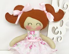 Fabric Dolls Cloth Doll Soft Doll Gifts for by SewManyPretties