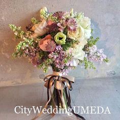 Beautiful Hand Tied Wedding Bouquet Which Includes: Anemones, Ranunculus, Astrantia, Lilac Bridal Flowers, Love Flowers, Beautiful Flowers, Beautiful Flower Arrangements, Floral Arrangements, Hand Bouquet, Bride Bouquets, Artificial Flowers, Flower Decorations